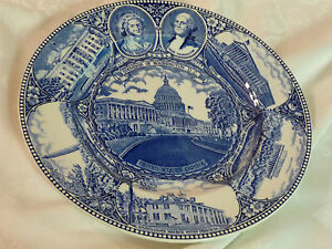 The-Washington-Plate-vintage-souvenir-of-Washington-D-C-Adams-transferware
