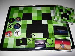 Minecraft-Pack-Mouse-mat-keyrings-badges-and-more
