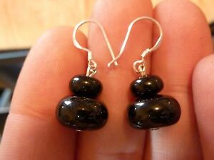 EARRINGS-BLACK-TOURMALINE-MONTURE-EN-ARGENT-925