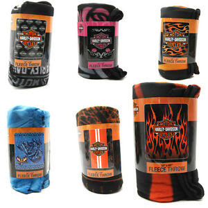 Harley-Davidson-Fleece-Blanket-Assorted-Styles