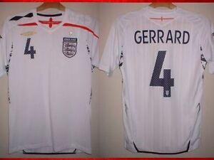 England-GERRARD-Football-Soccer-Shirt-Jersey-UMBRO-2007-09-Adult-S-M-L-XL-XXL
