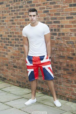 Union Jack Designer Bermuda Shorts- British Flag summer wear Rio 2016