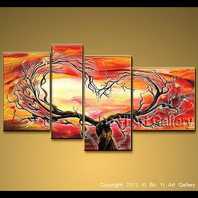 Large Framed Oil Painting Canvas Wall Art Modern Abstract Tree Impressionism