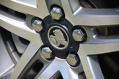Holden VE Commodore Chrome Wheel Nut Caps / Covers - a set of 16 caps