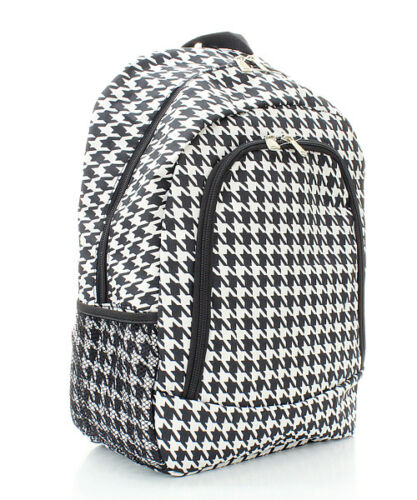 Back Pack Black /& White Houndstooth Backpack School Book Bag Red or Pink