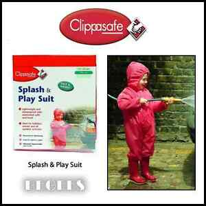 BRAND-NEW-IN-BOX-CLIPPASAFE-SPLASH-amp-PLAY-SUIT-90CM-IN-RED