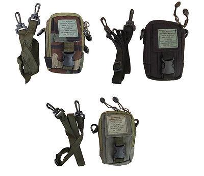 Army Military Combat Shoulder Travel Zip Bag Camera Surplus Phone Belt Pouch