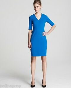 BNWT-DVF-Diane-von-Furstenberg-Takara-knit-suiting-dress-sailor-blue-US-2-365