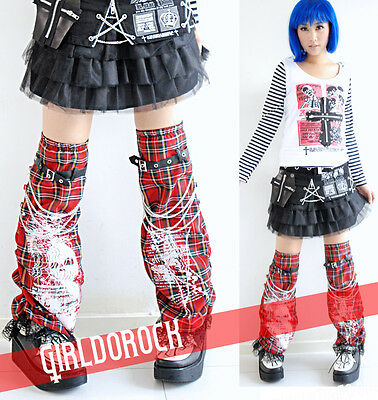 Gothic Lolita PUNK black Cosplay Corset Leg Warmer BR