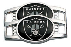 NFL Oakland Raiders Shoe Charms - Sold in Pairs - Lace up with team spirit!