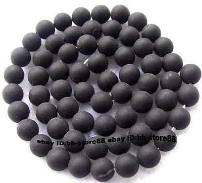4mm,6mm,8mm,10mm,12mm,14mm Natural rough Onyx Round Gemstone Beads 15''