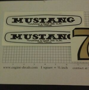 Mustang-Mower-Mowett-Sales-Co-Decal-Set-For-7hp-Rider