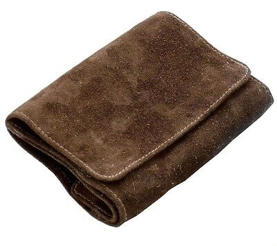 Tobacco pouch Rolling bag Suede Leather brown red-brown with Rubber lining