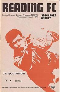 Reading-v-Stockport-County-Div-4-April-1972-Football-programme