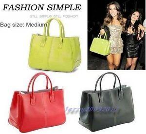 Hot-fashion-Women-PU-leather-Clutch-Handbag-Bag-Totes-Purse-Hobo-12-colors