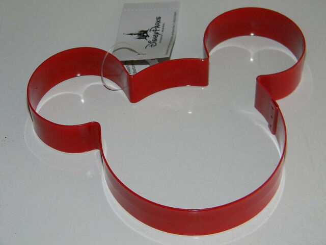 Disney MICKEY MOUSE EARS Lg. RED METAL COOKIE CUTTER Sandwich Craft 5x4 NWT