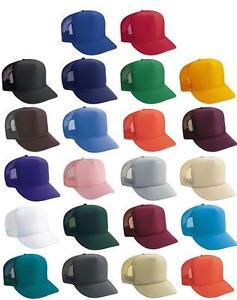 CLASSIC-COLOR-FOAM-MESH-TRUCKER-CAP-BASEBALL-HATS