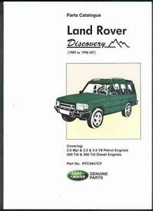 factory workshop repair parts manual book land rover discovery 1989 rh ebay co uk land rover defender parts catalog pdf land rover discovery parts manual pdf