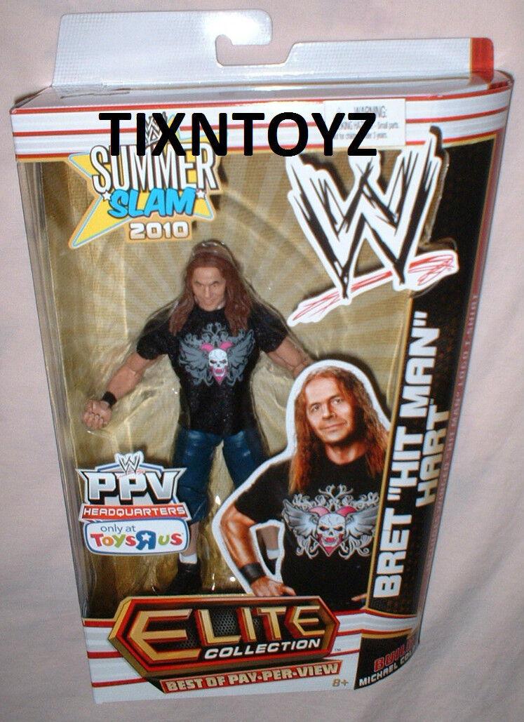 WWE Elite Collection __ mejor de pago por visión __ Bret  Hit Man  Hart Exclusivo Figura