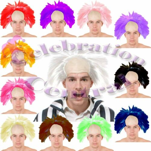 CRAZY HAIR MAD SCIENTIST PROFESSOR CLOWN WIG