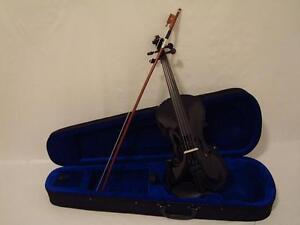 Black-Violin-4-4-Full-Size-Violin-Set-Brand-New