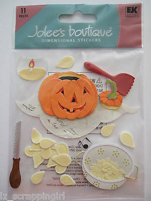 PUMPKIN CARVING Dimensional Stickers JOLEE'S BOUTIQUE; HALLOWEEN Jack-O-Lantern