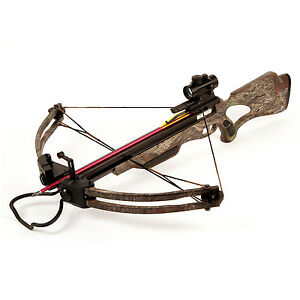 175-lb-Camouflage-Compound-Crossbow-Bow-Red-Dot-Sight-16-Arrows-180-150-80-50