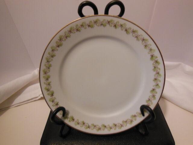 CFH GDA Haviland Limoges Luncheon Plate Blank 184 Shamrocks Vintage