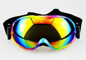 ski snowboard goggles  Fashion Rainbow Frame Dual Lens Anti-Fog Snow Ski Snowboard ...