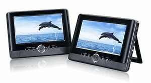 Brand-New-7-Dual-Twin-Screen-In-Car-DVD-Player-Plays-DIVX-and-AVI-UK-Stock