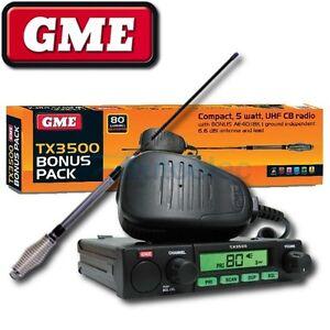 GME-80-CHANNEL-TX3500-UHF-CB-RADIO-5-WATT-MODEL-NEW-AE4018K1-ANTENNA-PACK