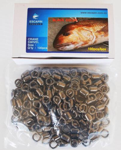 Bulk Pack 100 x 5//0 Crane Swivels 35mm Quality Fishing Swivels. 440lbs