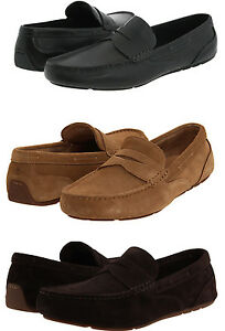 Rockport-Mens-Greenbrook-Black-or-Tan-or-Brown-Driving-Shoes-Loafers-Drivers