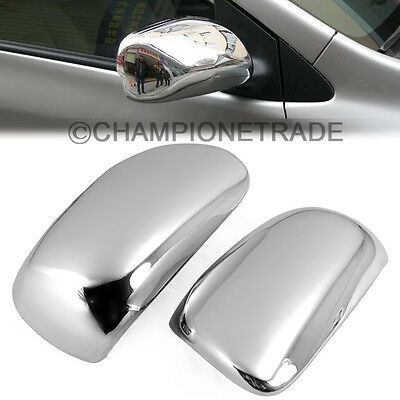 Chrome Rear View Mirror Cover For 2004-2013 Toyota Corolla Yaris Matrix Prius CT