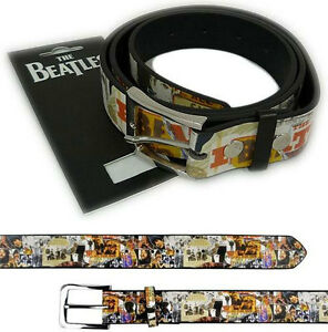The-Beatles-Anthology-Artwork-Belt-With-Metal-Buckle-New-amp-Official-With-Tag