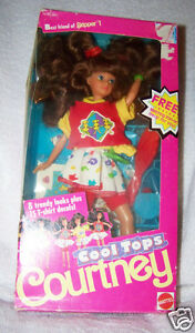 Barbie-Doll-Courtney-Cool-Tops-Best-friend-of-Skipper-Mattel-1989-NIB-w-clothes