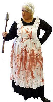 EVIL HOUSEKEEPER VICTORIAN HALLOWEEN/HORROR FANCY DRESS COSTUME All Sizes