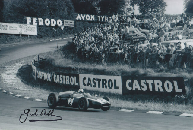 Jack Brabham Hand Signed Silverstone 1960 Photo 12x8 1.