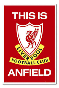 Liverpool-FC-Poster-This-Is-Anfield-White-Framed-Ready-To-Hang-Frame-Free-P-amp-P
