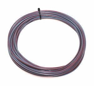 kfz kabel litze leitung flry 1 0mm 10m grau rot fahrzeugleitung pkw ebay. Black Bedroom Furniture Sets. Home Design Ideas