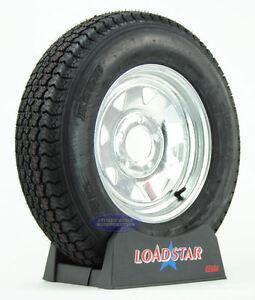 Kenda Loadstar Trailer Tire ST 175/80D13 on Galvanized 5 Lug Wheel B78-13 LRC
