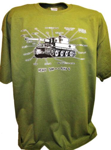 Tiger Tank Specs Ww2 Army German PzKpfw T34 1//35 1//72 Ss LSSAH Waffen Armor Tee