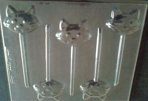 5-CAVITY-CAT-HEAD-CHOCOLATE-LOLLIPOP-MOULD-SOAP-CLAY-MOULD-MOULDS