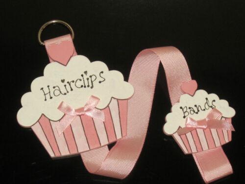 CUTE GIRLS HAIRCLIP BANDS STORAGE//HANGER//ORGANISER//HOLDER CUPCAKE SHABBY CHIC