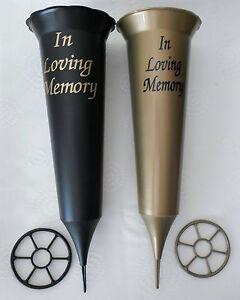 PLASTIC-GRAVE-CONE-VASE-IN-LOVING-MEMORY-CEMETERY-VASE-FUNERAL-MEMORIAL