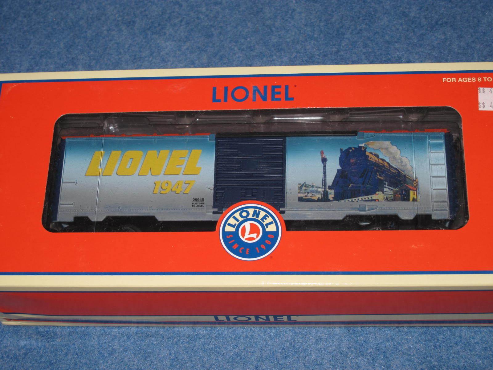 2007 Lionel 6-29945 Lionel Art Box Car 1947 Classic Nuovo in Box L2212