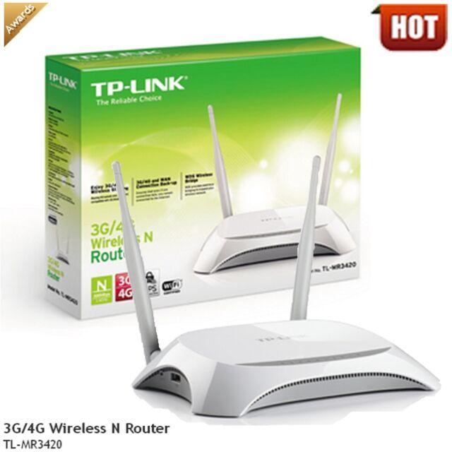 TP-Link tplink 3G/4G modem Wireless N Wi Fi Router 300Mbps TL-MR3420 ver.2 LTE