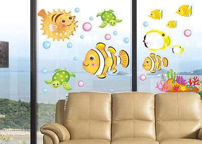 Sea Ocean Colorful Fish For Kids Wall Decor Vinyl Decal Removable Stickers #2