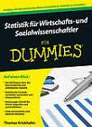 Statistik fur Wirtschafts- und Sozialwissenschaftler Fur Dummies by Thomas Krickhahn (Paperback, 2013)