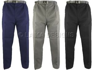 BOYS-SCHOOL-STURDY-STOCKY-WIDER-FIT-TROUSERS-ZIP-FLY-amp-HALF-ELASTICATED-WAIST
